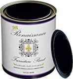 Renaissance Chalk Furniture & Cabinet Paint Qt - Non Toxic, Eco-Friendly, Superior Coverage - Midnight Black (32oz)