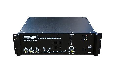 Medha DJ Plus MX-1200 High Power Mosfet DJ Amplifier