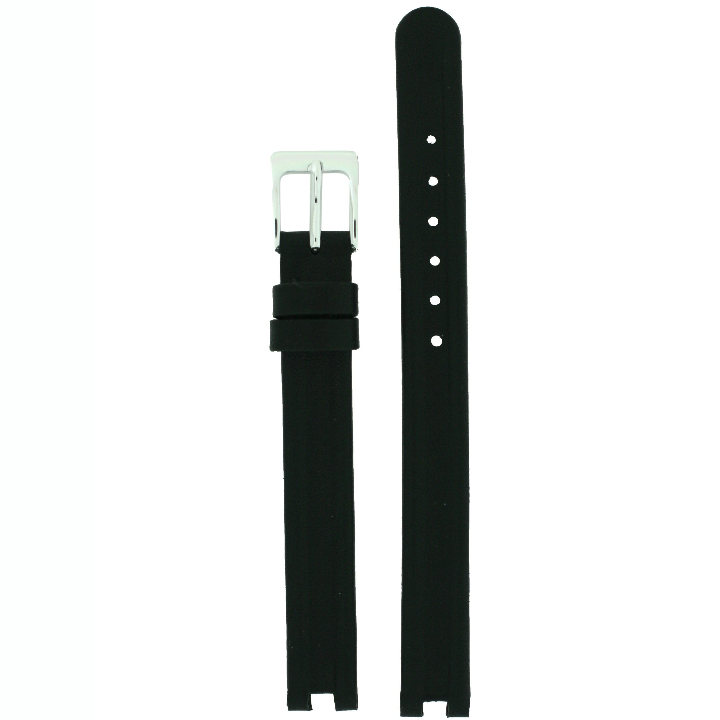 Watch Strap Geunine Leather Center Cut Rado Style Black Ladies 10mm