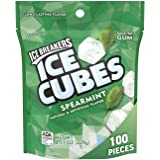 Ice Breakers Gum, Sugar Free Ice Cubes with Xylitol, Spearmint, 100 Piece Pouch