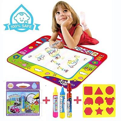 UBLA Agua Dibujo Pintura Estera Alfombra de Agua Doodle Agua Doodle Esteras Mágicas Libro Mágico del Dibujo del Agua para Niños Niñas: Juguetes y juegos