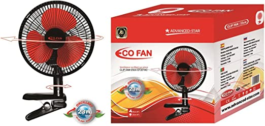 Ventilador de clip oscilante, 2 velocidades, 20 cm – 23 W: Amazon ...