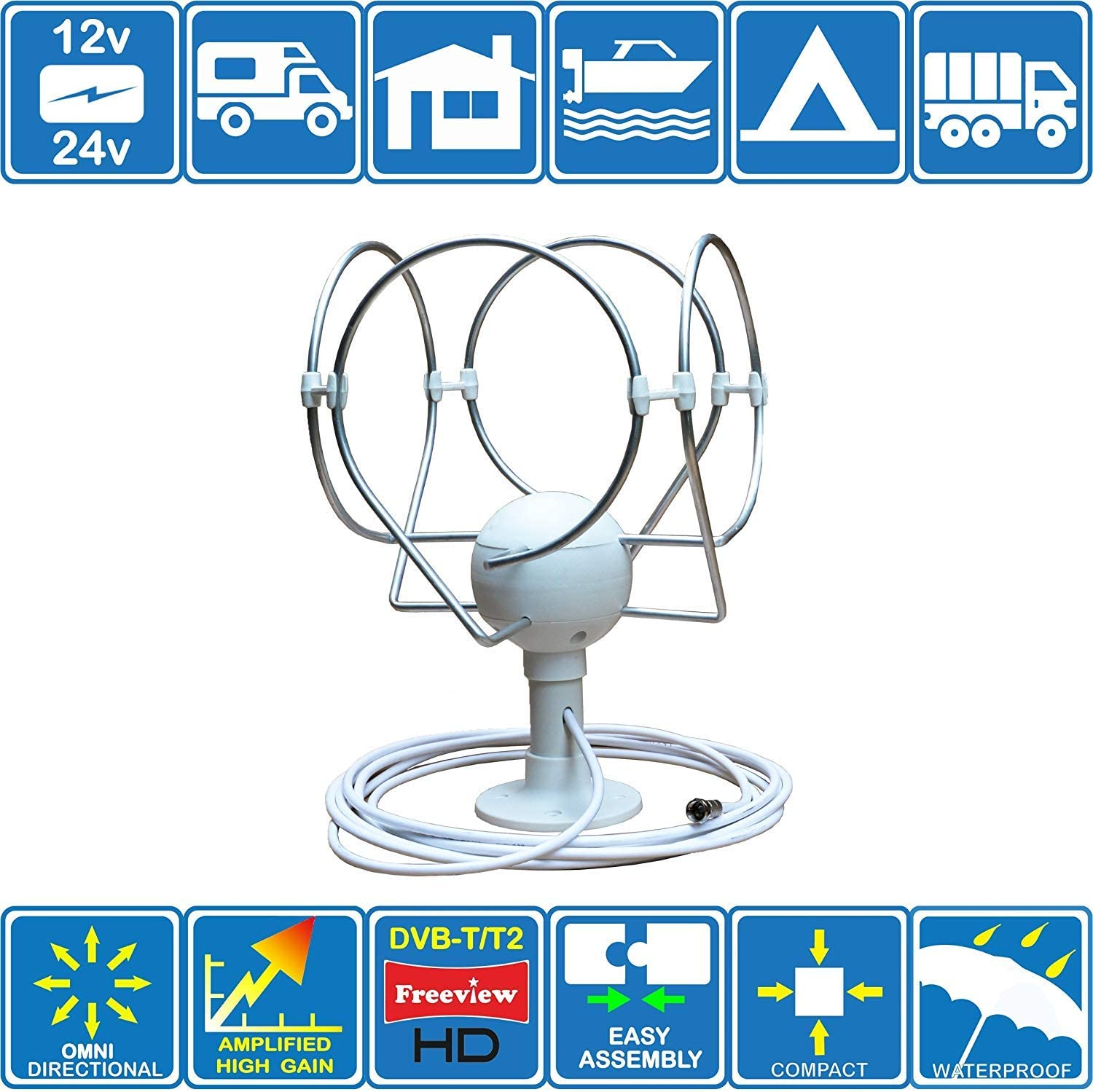 Maxview Omnimax MAGNETIC high quality TV antenna aerial DIGITAL CAMPER MOTORHOME