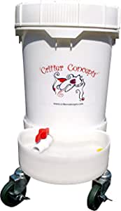 Critter Concepts Dog Water Dispenser 5 Gallon Automatic Waterer for Thirsty Dogs – Large Rolling Pet Fountain Dog Water Bowl, Anti-Fall Indoor/Outdoor Self-Dispensing Gravity Design, Easy to Clean