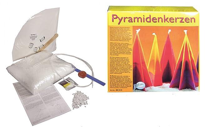 CREARTEC Werkpackung Pyramidenkerzen zum selber herstellen: Amazon ...