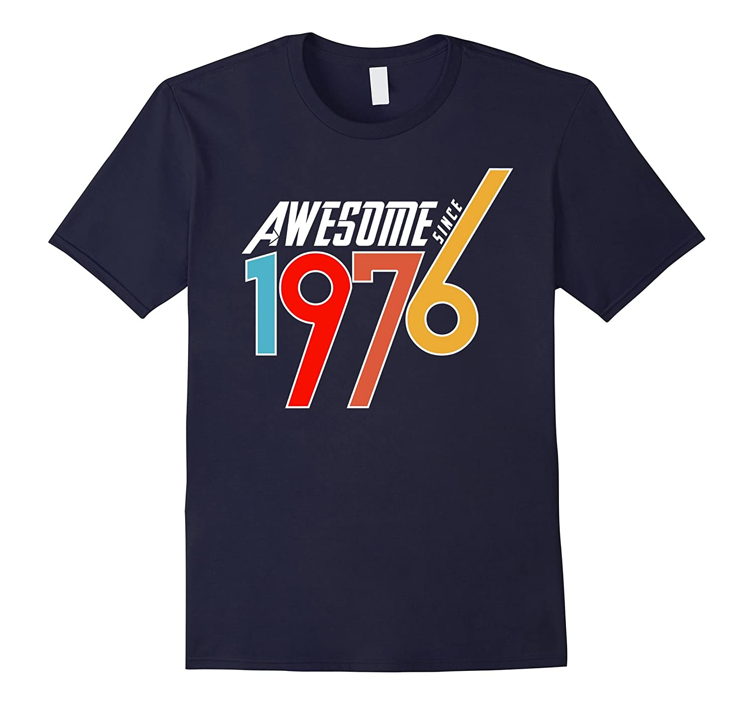 Awe-some Since 1976, 40th Birth-day Gift T Shirt-BN