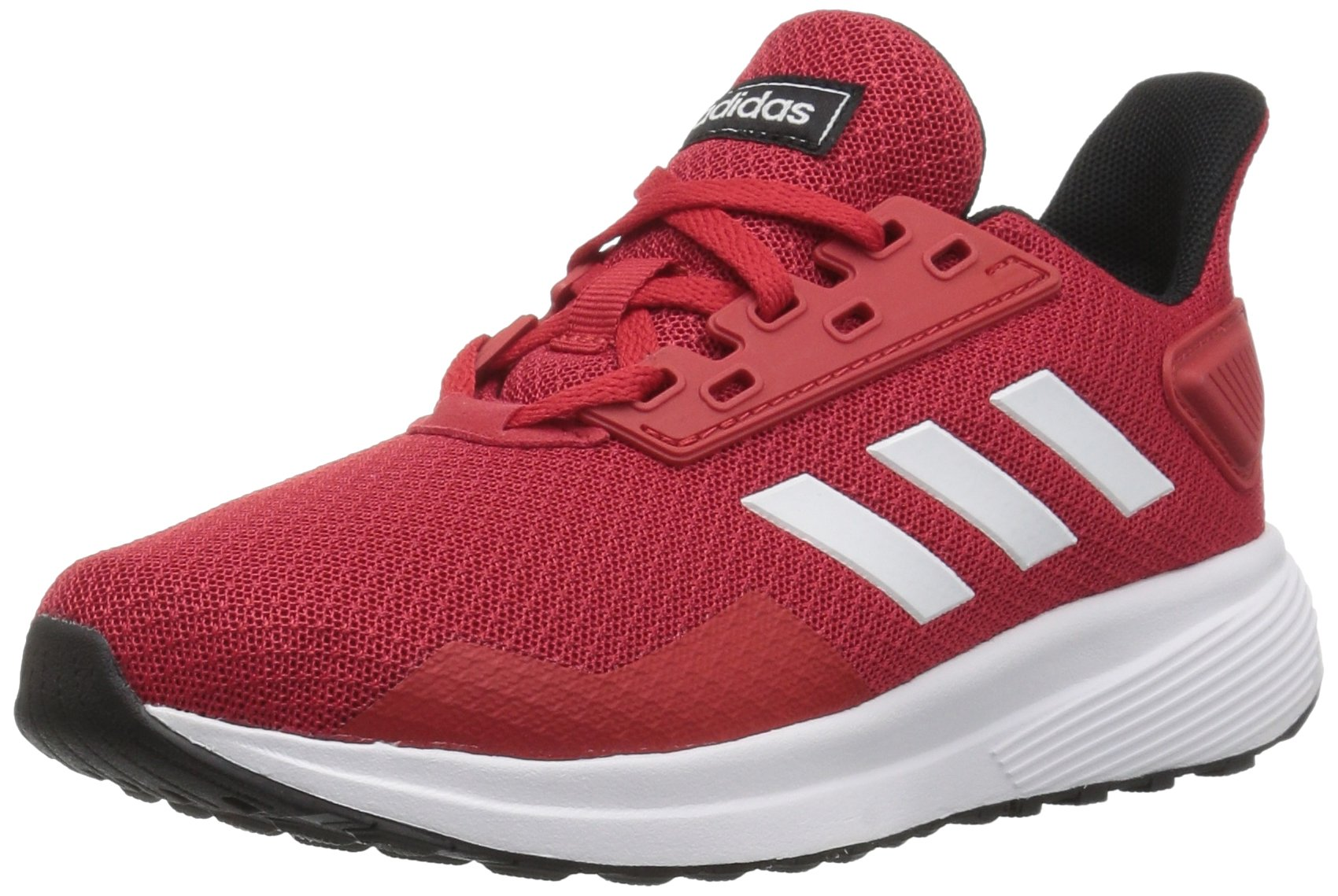 adidas Unisex-Kid's Duramo 9 Running Shoe, Scarlet/White/Black, 1.5 by adidas