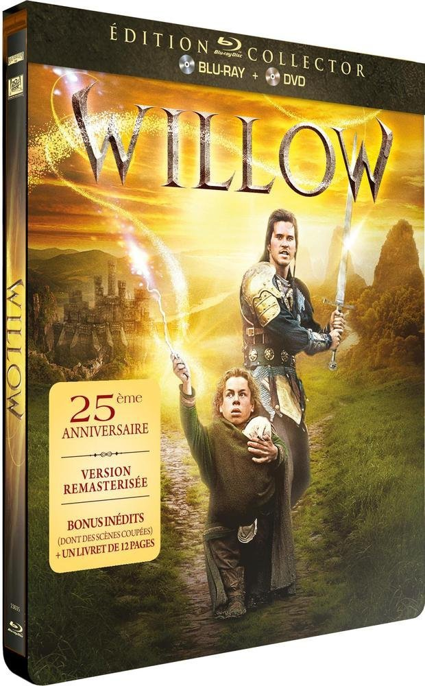 Willow Combo Blu Ray Dvd Edition Collector Boitier Steelbook Amazon Fr Val Kilmer Joanne Whalley Warwick Davis Billy Barty Jean Marsh