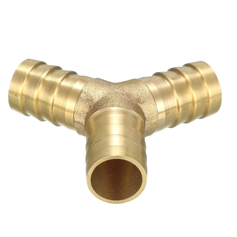 COMEYOU Adaptador de uni/ón de Manguera de leng/üeta de lat/ón en Forma de Y Conector de 3 v/ías Adaptador de uni/ón 6 mm