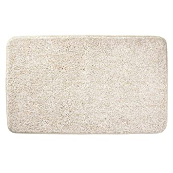 """21/"""" x 17/"""" 2 Pack Heather Tan mDesign Soft Microfiber Small Accent Rug Mat"""