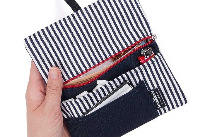 Tabaquera con bolsillos para accesorios - Funda de tela para tabaco de liar