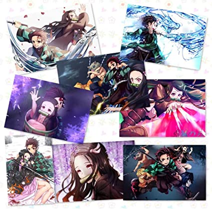 Anime Demon Slayer Kimetsu No Yaiba Wall Art Decor Painting Poster 50.5*35cm