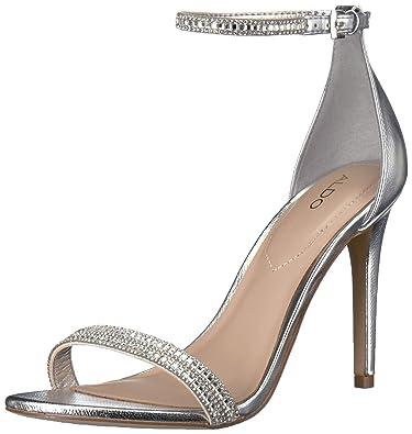 a7c95ea7617 ALDO Women s CIASA Heeled Sandal Silver 7.5 ...