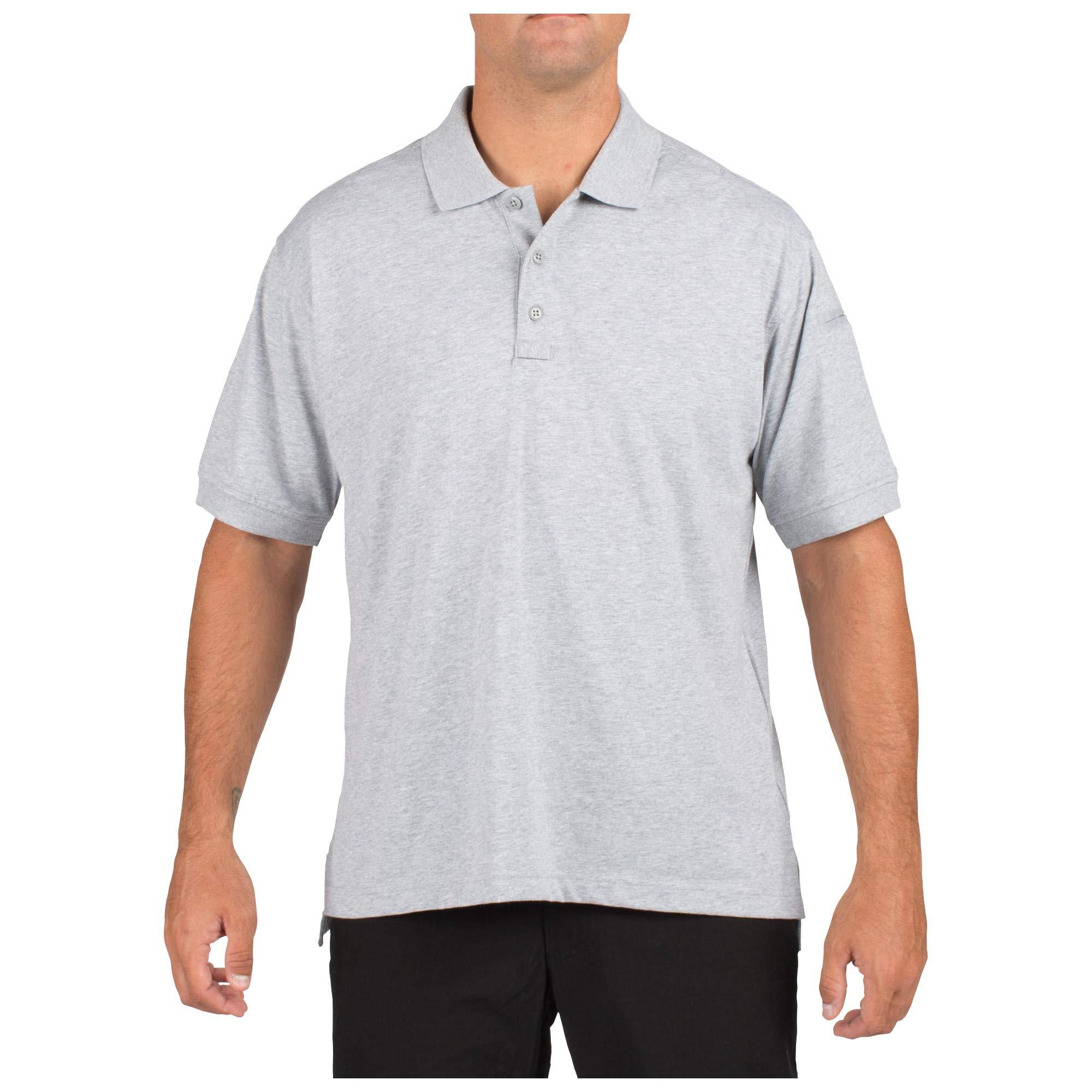 5.11 Tactical Tactical Short-Sleeve Polo, Heather Grey, Medium