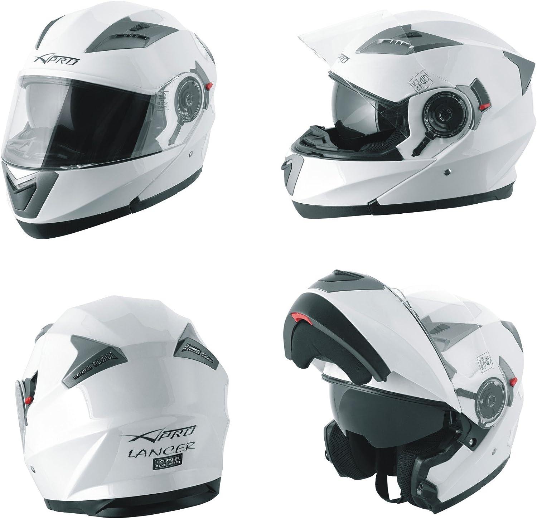 A Pro Helm Klapphelm Innensonnenblende Motorradhelm Modular Weiss M Auto