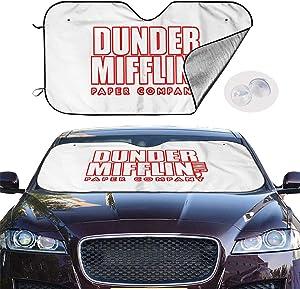 LiJun The Office Dunder Mifflin Car Windshield Sun Shade Universal Fit Car Sunshade-Keep Your Vehicle Cool