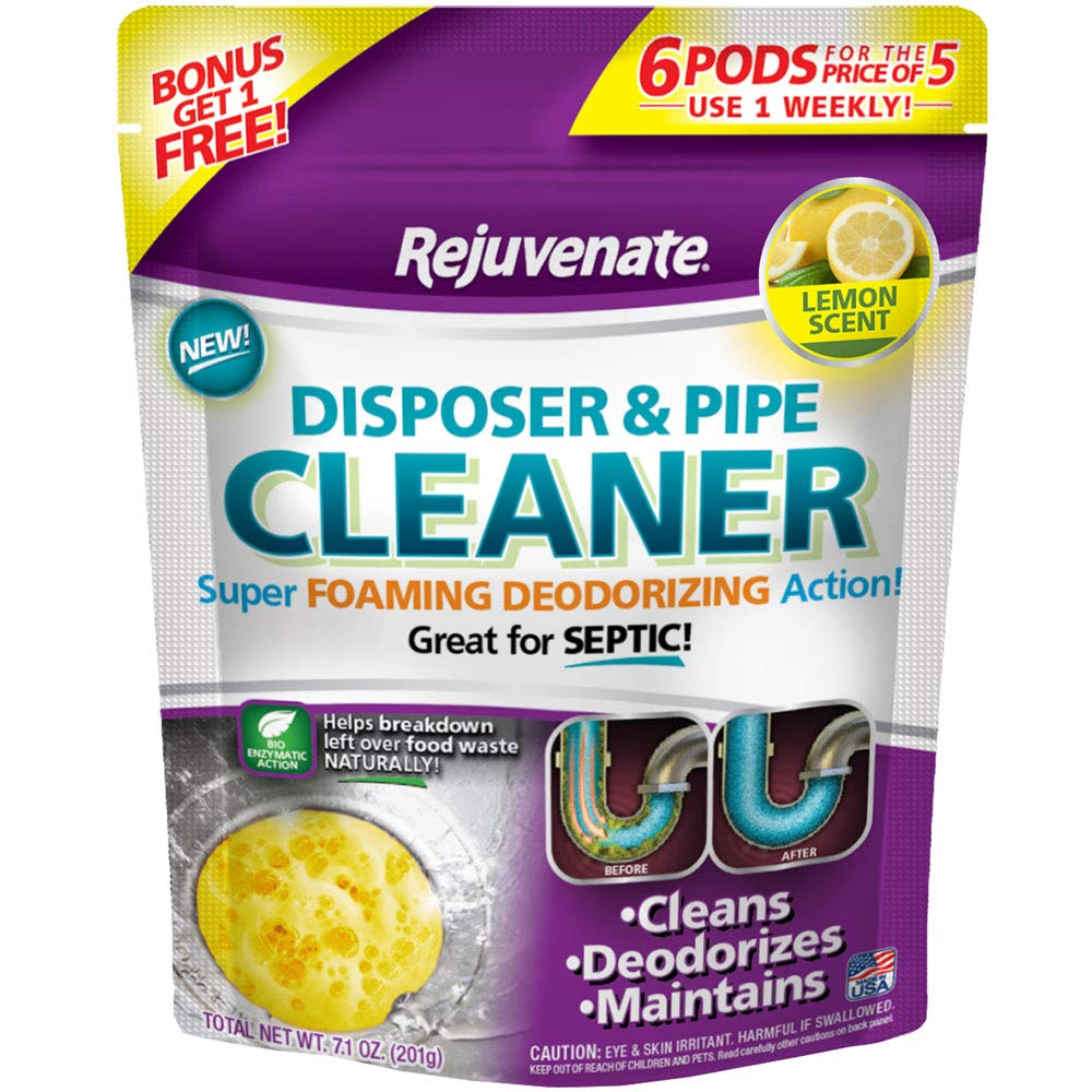 Rejuvenate RJ6DPC Disposer and Pipe Cleaner 6-Pack