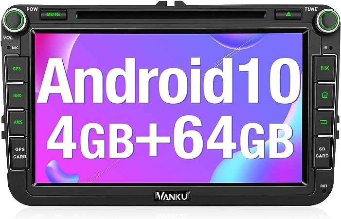 Vanku Android 10 Autoradio Für Vw Radio 64gb 4gb 8 Elektronik