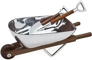 Godinger Wheelbarrow Salad Bowl & Servers, Alternative Metal