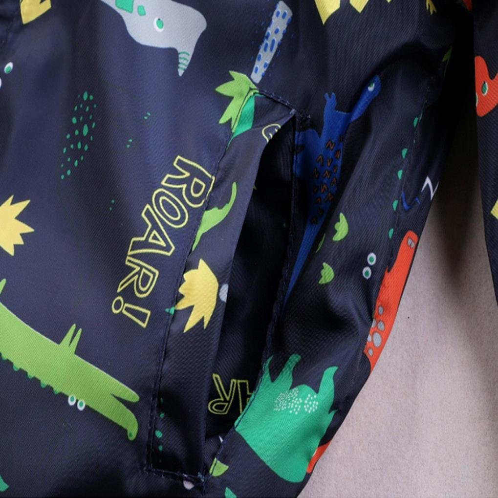 ChainSee Kids Spring Autumn Fashion Dinosaur Printed Jacket Outerwear Coat