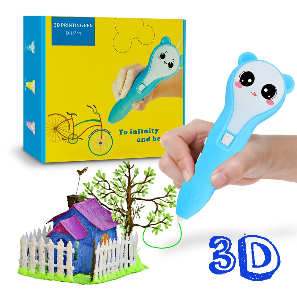 3D Pen, iDER 3D Doodler Drawing Printing Pen with 1.75mm PCL Filaments, Low-temperature Non-toxic for Adults,   Doodling, Artist, Kids, DIY, Drawing etc (Blue)
