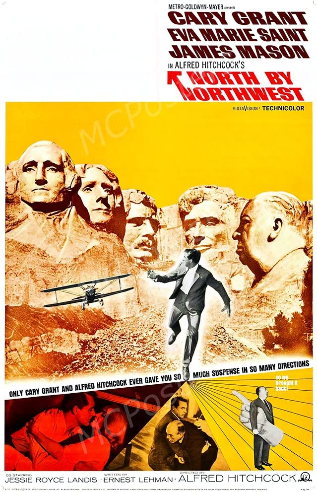 """MCPosters North by Northwest GLOSSY FINISH Movie Poster - MCP431 (24"""" x 36"""" (61cm x 91.5cm))"""