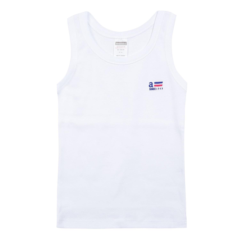 Absorba Underwear Debardeur Basic Bio Garcon, Vestaglia Bambino Bianco (Blanc 01) 6L68073-RA