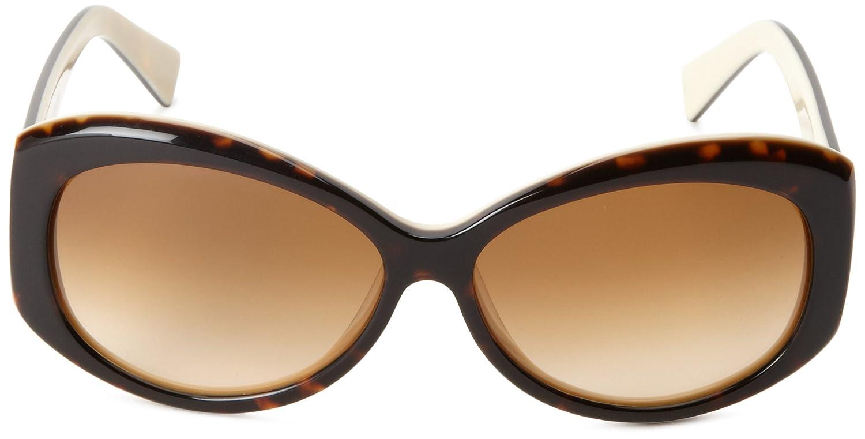 Amazon.com: Tres Noir Bombshell Ronda anteojos de sol de la ...