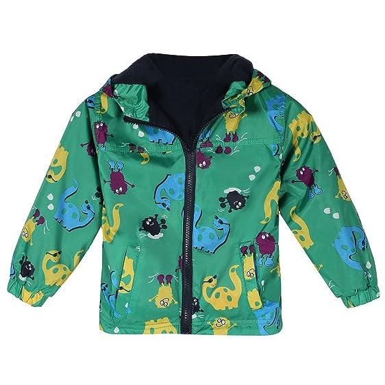 Amazon.com: Baby Kids Boys Fleece Coat Jacket Animal Dinosaur ...