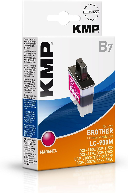 KMP B7 - Cartucho de tinta Brother LC900M, color magenta