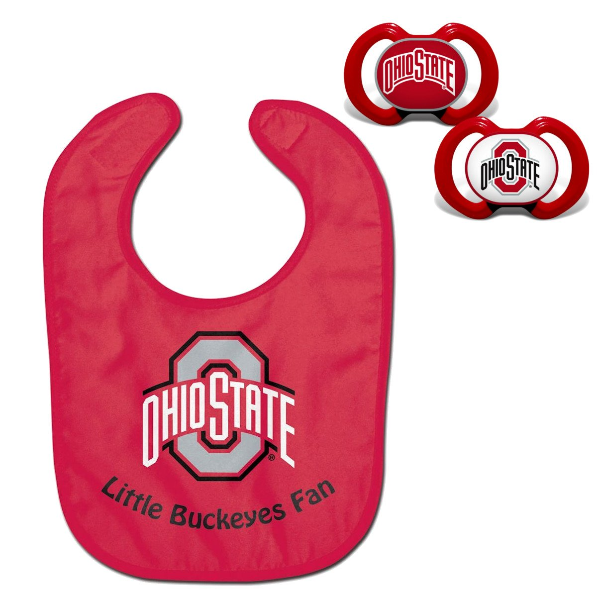 Start The Little Ones Out Early in Joining The Fan Club and Show College Support NCAA Official Fan Shop Authentic Baby Pacifier and Bib Set