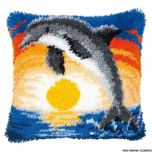 Vervaco Cojín, Tela, Multicolor: Amazon.es: Hogar
