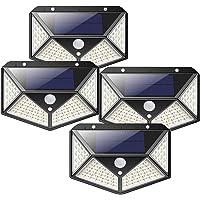 Solar Lights 4PACK 100LED Motion Sensor Deck Light, JORAGO Waterproof Wireless Solar Lamp