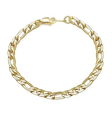 5370b5a53b9 Sailimue 6mm 9mm Largeur Acier Inoxydable Bracelet pour Homme Femme Figaro  Chaîne Bracelet Argent