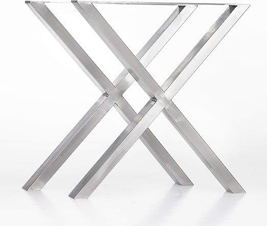 mina concept Mesa Estructura Acero Inoxidable X Forma de Cruz ...