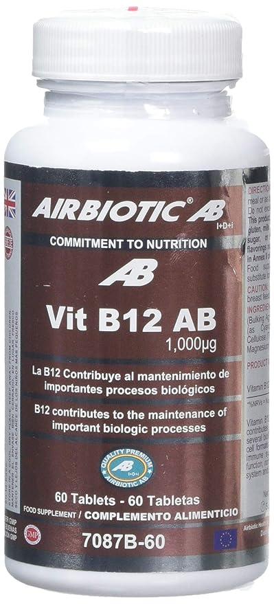 Airbiotic AB - Vit B12 AB Vitaminas para la depresión, anemia y neuropatías, 1000