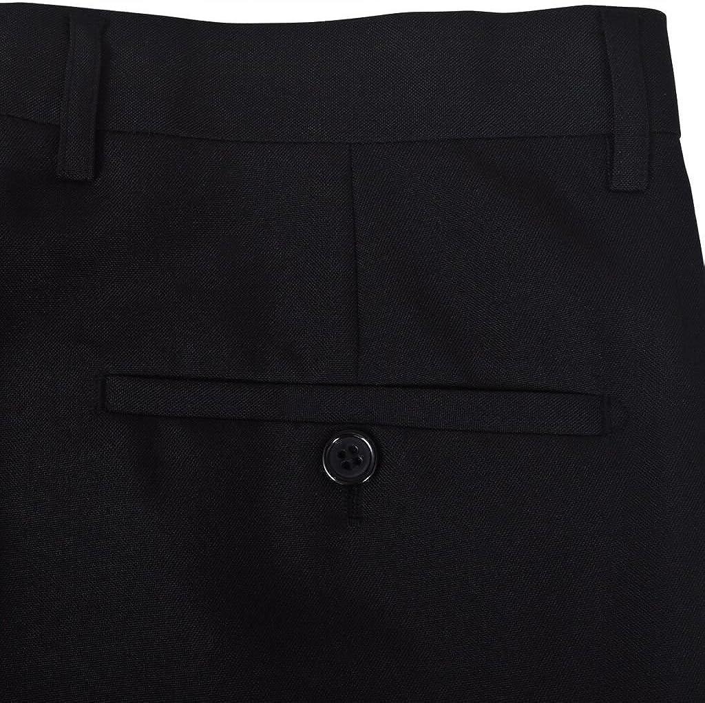 vidaXL Esmoquin Traje de Gala Elegante con corbat/ín para Hombre Negro 2 Piezas