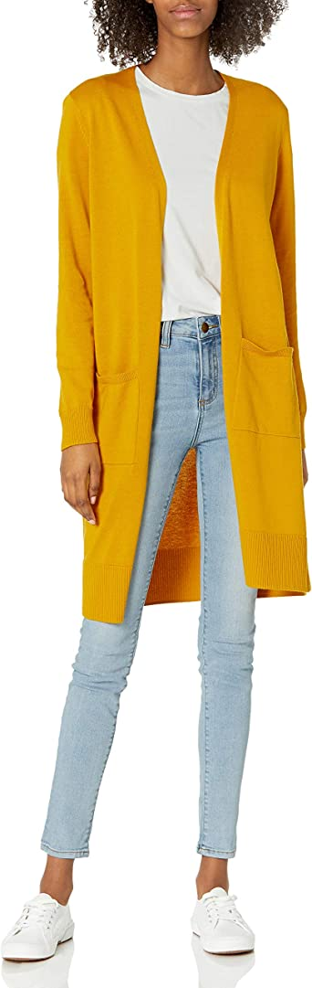 Amazon Essentials Women's Lightweight Long-Sleeve Longer Length Cardigan