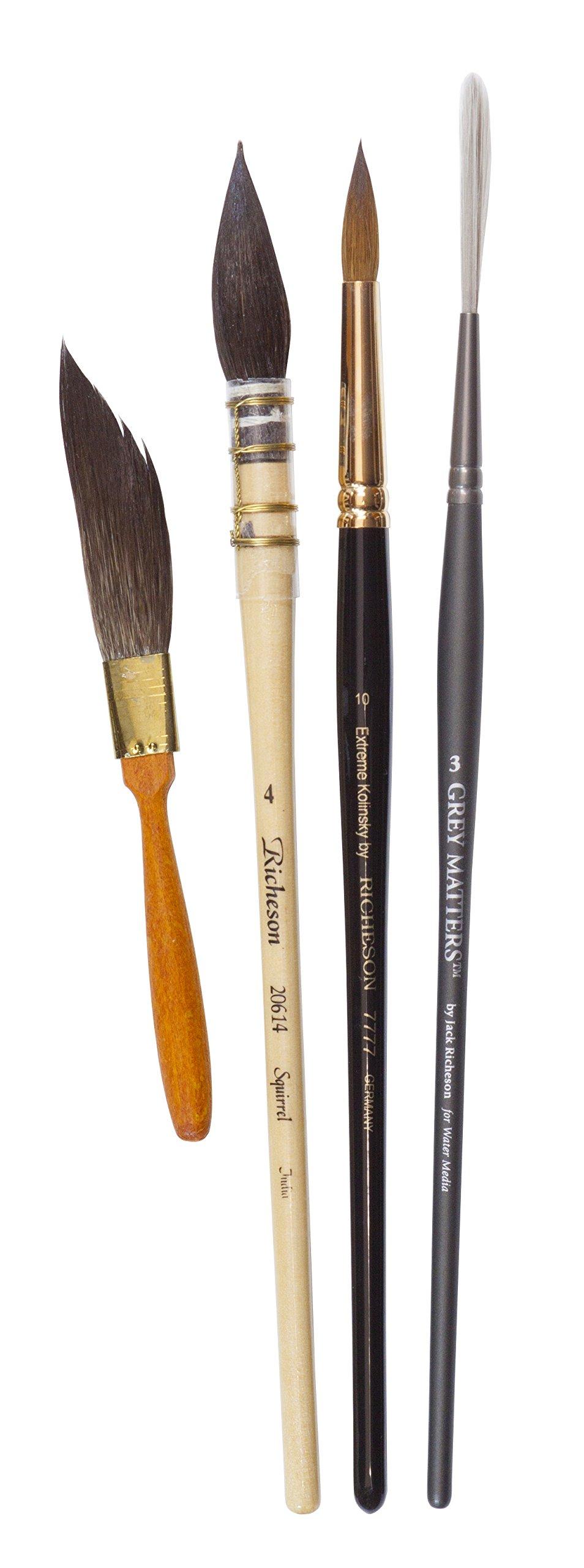 Shari Blaukopf SB002 Basic Watercolor Brush Set by Shari Blaukopf