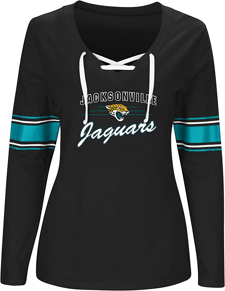 new product 23506 624e1 Amazon.com : NFL Jacksonville Jaguars Women L/S JERSEY V ...