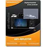 2 x SWIDO Anti-Reflective Screen Protector for Olympus OM-D E-M5 Mark II / OMD EM5 Mark 2 - PREMIUM QUALITY (non-reflecting, hard-coated, bubble free application)