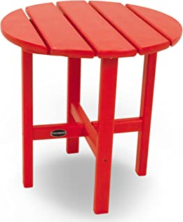"""product image for POLYWOOD RST18SR Round 18"""" Side Table, Sunset Red"""