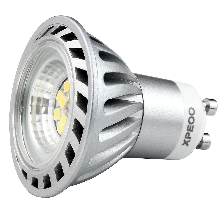 Xpeoo® 6 unidades de 6W Dimmable GU10 LED Bombilla Lámpara Igual a Halógena de 50W 520lm, Foco Spot Down light lamp bulbs,Iluminación Luz Blanco Diurno Frío ...