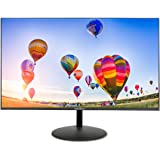 Excelvan Frameless Monitor 24 pollici per PC Desktop, LED Monitor IPS Full HD 1920 x 1080 senza bordi, Low Blue Light, 60 Hz 5 ms, VGA(D-Sub) e HDMI(Supporto HDCP), Nero
