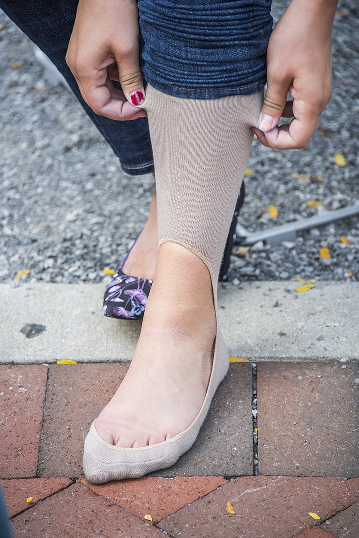 Keysocks Knee High No Show Socks - Nude
