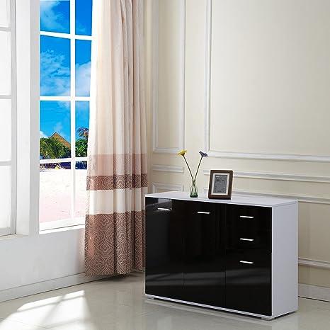 HOMCOM Armario 106x35x76cm Aluminio Aparador Mueble Consola Armarios Pasillo Nuevo