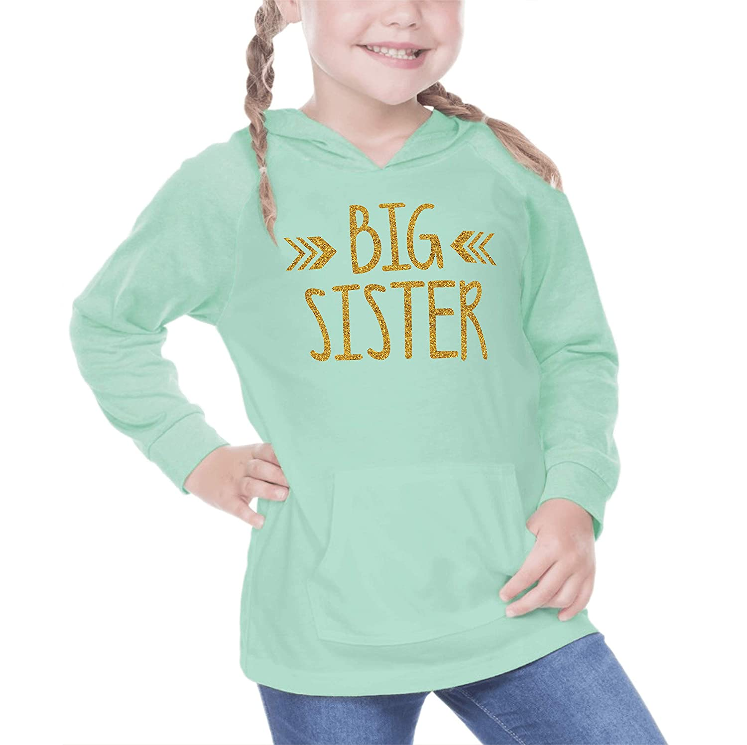 Big Sister Shirt Baby Girl Outfit Pregnancy Announcement (24 Months Ice Green)