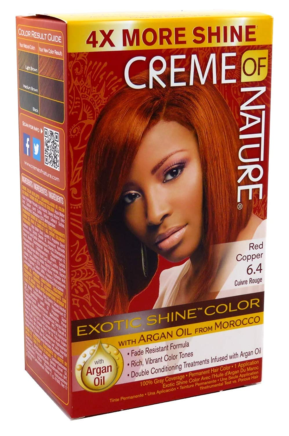 Creme Of Nature Color #6.4 Red Copper Exotic Shine (Pack of 2)