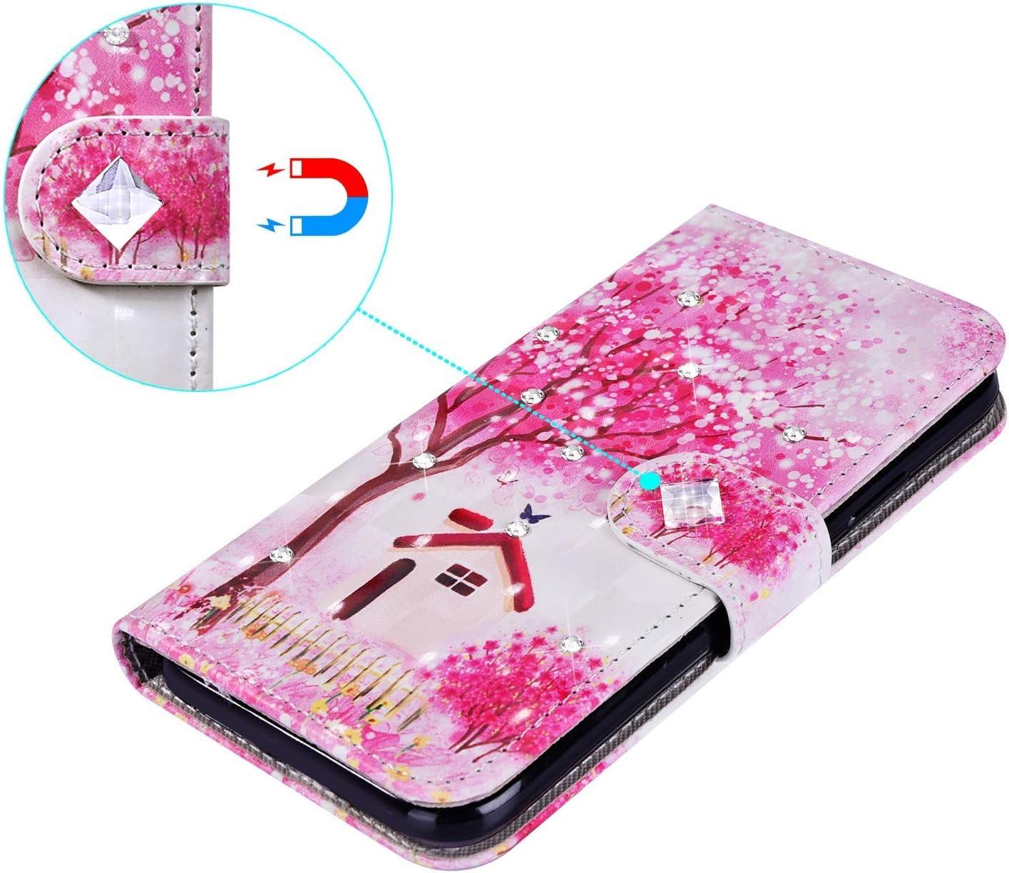 Saceebe Compatible avec Samsung Galaxy A51 Coque Cuir Housse Color/é Motif Paillette Brillante Diamant Strass Pochette Portefeuille Etui Coque /à Rabat Magnetique Flip Case,Attrapeur de r/êve
