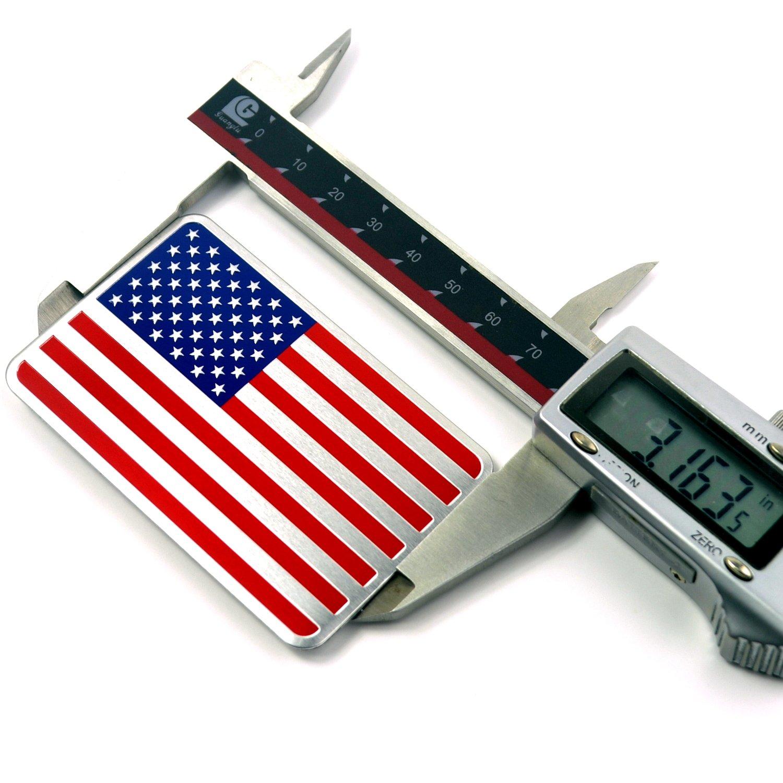 15 pcs American Flag Aluminum Car Emblem Badge Sticker